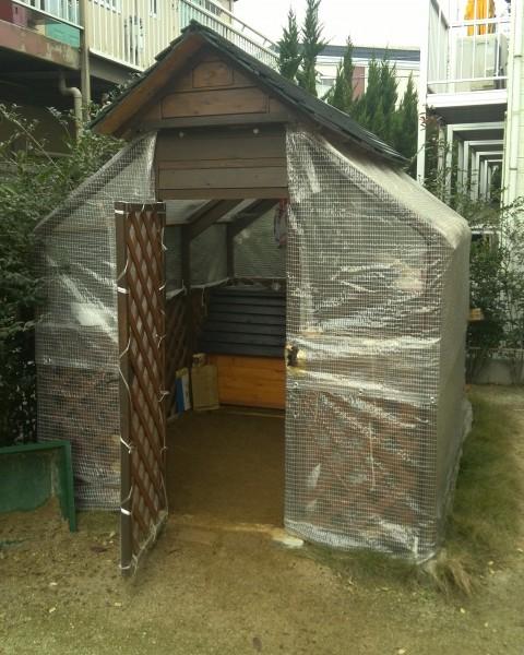 うちの犬の小屋です