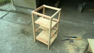プリンタの台-ベース棚の作成