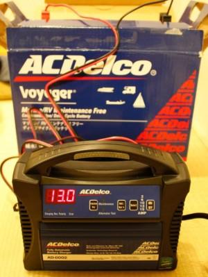 充電完了後5時間後の電圧