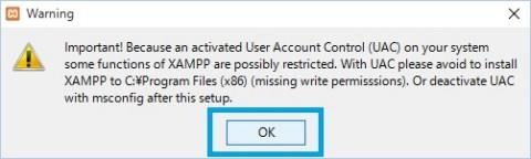 XAMPPインストール3メッセージOK